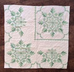 white quilted blanket, cross stitch pattern