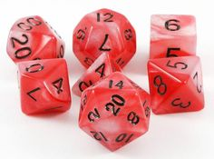 Combo Attack Dice (Red/White) RPG Role Playing Game Dice Set