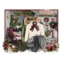 """""""Christmas and Snowmen"""" by jackie22 ❤ liked on Polyvore featuring Nearly Natural, HomArt, Slippin' Southern, American Eagle Outfitters, Burberry, Diesel, St. Nicholas Square, Balenciaga, Timberland and LolÃ«"""