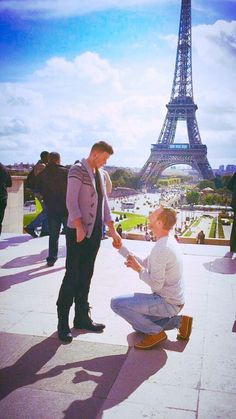 This is my fiancé Zack and I, we were engaged a year ago, yesterday. We met through friends and went to Panera Bread, we got bored there and he took me back to his place for wine and movies. Same Love, Man In Love, Gay Proposal, Men Kissing, Romance And Love, Cute Gay Couples, Marriage Proposals, Love And Marriage, Partner