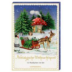Karten-Set - Nostalgische Weihnachtspost