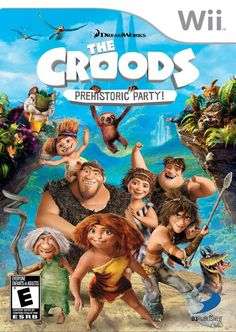 The Croods movie is being released March Another fun title from DreamWorks. Along with the movie, there is a free game app for iPhone and Android and The Croods: Prehistoric Party for the Nintendo Wii, Wii U, DS and Family Party Games, Wii U Games, Latest Games, Mini Games, Prehistoric, Video Game Console, Nintendo Wii, Nintendo Switch, Game Of Life