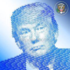 Stati Uniti - novembre 2016 - Donald Trump, 45 ° Presidente degli Stati Uniti damerica — Vettoriali Stock © frizio #130279790