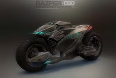 It was great fun working on this, for long time i havnt done bikes, its more like a drone and a bike razper Futuristic Motorcycle, Futuristic Cars, Motorcycle Bike, Concept Motorcycles, Cool Motorcycles, Cyberpunk, Foto Batman, Science Fiction, Motorbike Design