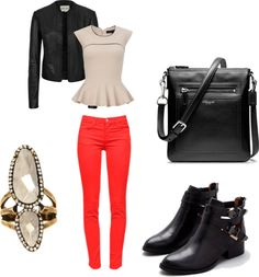 """Biker chic"" by tarheeled on Polyvore"