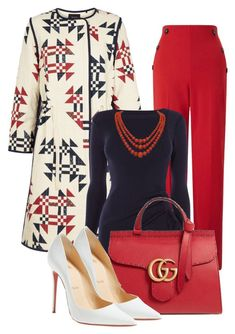 """For the love of Printed Coat"" this is a stunning office outfit! Komplette Outfits, Classy Outfits, Stylish Outfits, Fashion Outfits, Womens Fashion, Fashion Trends, Fashion Scarves, Office Outfits, Skirt Outfits"