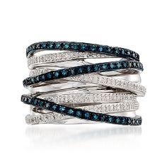 Diamond Criss-Cross ring