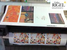 """Junto a las pruebas de color, también están los FERROS, que revisamos concienzudamente todos, para que no se nos escapen erratas, errores de paginación, sangrados en las ilustraciones, etc.  -----------------  Proceso de impresión del álbum ilustrado """"El constipado del Sol"""" de Esperanza Medina y Elena Fernández en Graficas Rigel - Avilés, Asturias"""