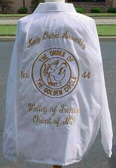 Jacket Golden Circle, Eastern Star, Sistar, Daughter Of God, Screen Printing, Jewlery, Wine, Weddings, Embroidery