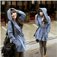 Buy directly from the world's most awesome indie brands. Ulzzang Fashion, Asian Fashion, Denim Coat, Vintage Denim, Indie Brands, Fashion Outfits, Womens Fashion, Sleeve Styles, Rain Jacket