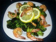 Shrimp and broccoli low carb