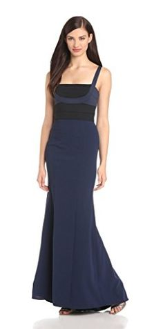 fd4e557e279 BCBGMAXAZRIA Womens Arabella Fitted Evening Gown Dark Navy Combo 6 >>>  Details can be