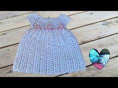 Vestido bebe tejido a crochet facil / Baby dress crochet easy - YouTube