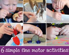 Six Simple Fine Motor Activities - fun and easy activities to develop and practice fine motor skills