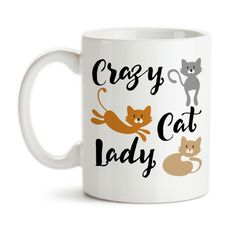 Important Info: Please email us @ ItsGroovy@GroovyGiftables.com if you have any questions or need to submit necessary details for a personalized product order. Visit http://GroovyGiftables.com for other design styles and product types! Design is Copyright Groovy Giftables ™ and its licensors. All Rights Reserved. Product Details: Crazy Cat Lady, Humor, Cats, Kittens, Pets, Love My Cats, Kitties, ... * Check out this great article. #catcare