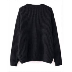 Black Drop Shoulder Textured Sweater (36 CAD) ❤ liked on Polyvore featuring tops, sweaters, shein, shirts, drop shoulder sweater, textured sweater, drop shoulder tops and textured top