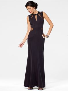 Black Keyhole Gown - Gowns - Dresses