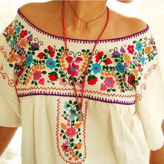 Vintage mexican embroidered dress