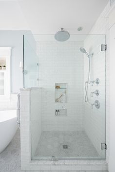 Part of our home renovation on West 10th Avenue in Vancouver, BC. *Re-pin to your own inspiration board) Inspiration Boards, Home Renovation, Vancouver, This Is Us, New Homes, Bathtub, Interior Design, Bathroom, Decoration