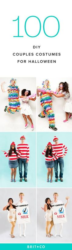 From the to the with a lot of punnery in between, here are ONE HUNDRED DIY COUPLES COSTUMES to get you inspired for Halloween. This would be great with the milkman costume