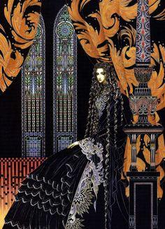 Gothic+Maiden.jpg (1156×1600) from http://art-et-cancrelats.blogspot.com/2012/08/toshiaki-kato.html by Toshiaki Kato