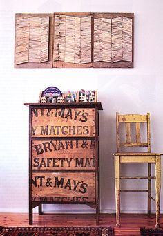 Brabourne Farm: Stencil words onto front of drawers