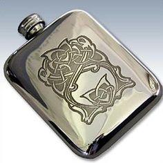 Celtic Birds flask Scottish Flasks Scottish Clans Tartans Kilts Crests and Gifts