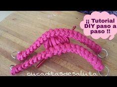Como hacer Asas de Trapillo ¡¡ Tutorial DIY !! - YouTube ༺✿Teresa Restegui http://www.pinterest.com/teretegui/✿༻