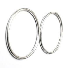Large Hoop Earrings /Sterling Silver Simple Stud Earrings / Large Geometric Minimalist Earrings / Gift for Her / Statement Earrings Handmade Jewelry, Unique Jewelry, Handmade Gifts, Statement Earrings, Hoop Earrings, Minimalist Earrings, Sterling Silver Earrings, Gifts For Her, Bracelets
