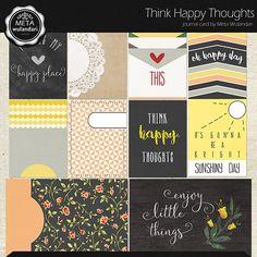 Think Happy Thoughts Journal Cards |  Meta Wulandari  | 11/09 - New Release :: Memory Scraps