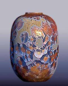 Céramique avec glaçures à cristallisation - Edmund Deinböck (Suisse)