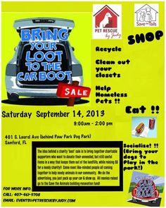 Bring you Loot to the Car Boot and help Pet Rescue by Judy.