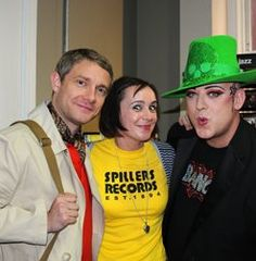 cute write-up by Jenni Davies (Penny) about her experience with Boy George and Martin Freeman