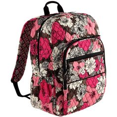 Vera Bradley Campus Backpack ($109) ❤ liked on Polyvore