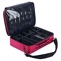 Best Makeup Bag   Double Compartment Travel Cosmetic Case Makeup Toiletry Bag Organizer and Storage Fuchsia -- Learn more by visiting the image link.(It is Amazon affiliate link) #inspire