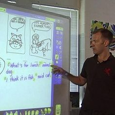 INSTRUCTION: This activity is effective and engaging by using a form of media that students are familiar with to teach them how to correctly use quotation marks. The teacher shows an existing comic and discusses the use of quotations to show that someone is speaking. He then co-creates new dialogue for the comic with the class. After, the students brainstorm different comic and dialogue ideas, before creating their own using what they just learned.