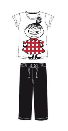 Pikku Myy pyjama, valkoinen-musta, koko L