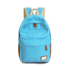 Fashion Unisex Dot Printing Backpack School Book Backpacks For Teenager Girl Boy School Bag Casual Stylish HB88