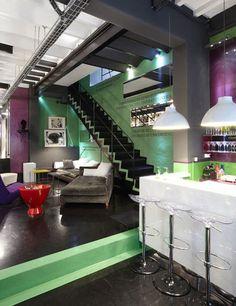 Cool loft....