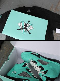 diamond co... So dope!!!  Want these now! Awwwww tiffany blue jordans....i dont even care for jordans but i would rock these!!!! These are hott!