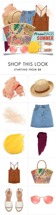 """""""Summer"""" by tellmeverything ❤ liked on Polyvore featuring Bobbi Brown Cosmetics, Chaps, Eve Lom, Tory Burch, Ray-Ban and strawbags"""