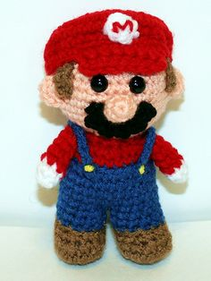 """This Mini Red Gamer Friend, inspired by Mario is the perfect companion for that special little game-loving boy or girl in your life! He is 5"""" tall and just perfect to hold in your hand!"""