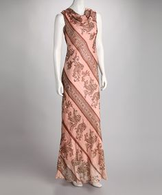 Take a look at this Pink Paisley Maxi Dress by Breezy Silhouettes: Women's Apparel on #zulily today!
