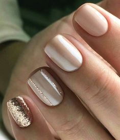 Awesome Cute neutral and rose gold nails  The post  Cute neutral and rose gold nails…  appeared first on  Nails .