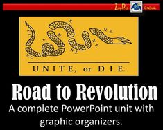 This Road to Revolution Unit contains a study guide, editable test, 33 graphic organizers and the 11 editable PowerPoint presentations.  Beautiful visuals and easy to understand bulletpoints!