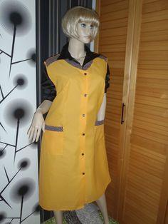 Nylon Kittel Schürze XXL Nylon Glanz Blouse Frisör Shiny Apron Smock Overall in Kleidung & Accessoires, Vintage-Mode, Vintage-Mode für Damen | eBay!