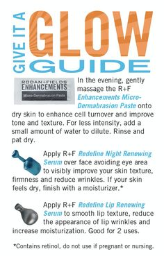 Rodan and fields mini facial cards and pc perks randf business you should be able to get 2 3 applications from the micro dermabrasion paste and 2 from the serums rodan and fields mini facial instructions reheart Choice Image