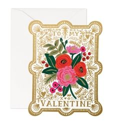 Show your valentine just how much you care with Rifle Paper Co.'s Valentine Greeting Card featuring full-color cover paper with blank interiors and foil detail. FORMAT: Full Color Flat Fold Card with Envelope DIMENSIONS: x MADE IN USA Greeting Card Shops, Valentine Greeting Cards, Vintage Valentine Cards, Valentine Day Cards, Be My Valentine, Vintage Cards, Funny Valentine, Valentines For Singles, Rifle Paper Co