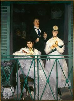 Manet at Musee d'Orsay: Le Balcon, 1868-69
