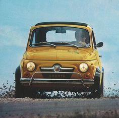 How cute is this #FIAT Abarth 500? #Classic #Italian #MicroCars #Style #Adorable